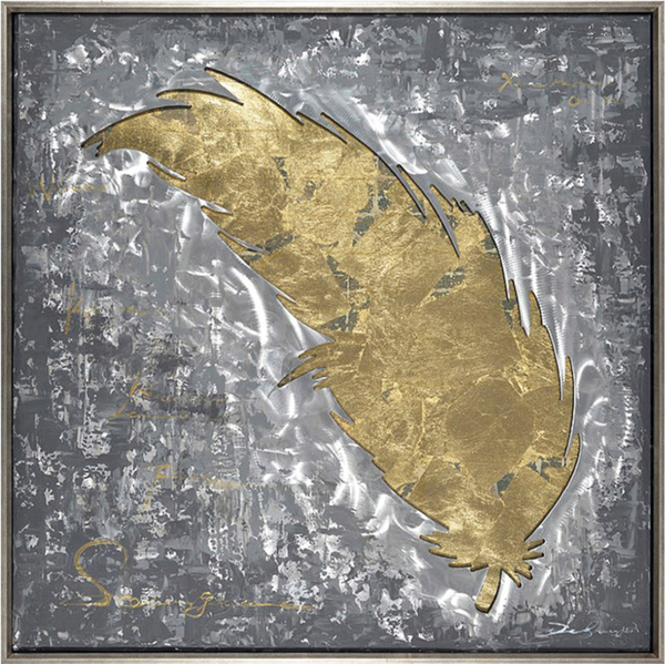 Golden Goose Feather 3D Wall Art
