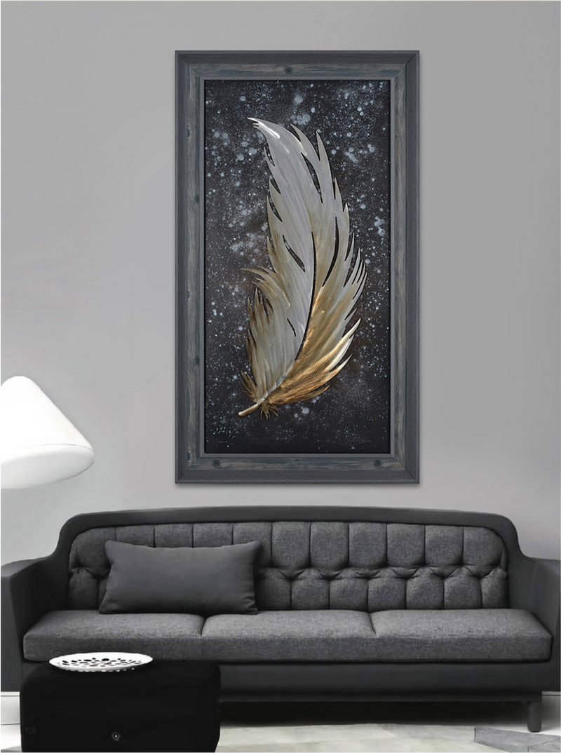 Phoenix Feather 3D Wall Art