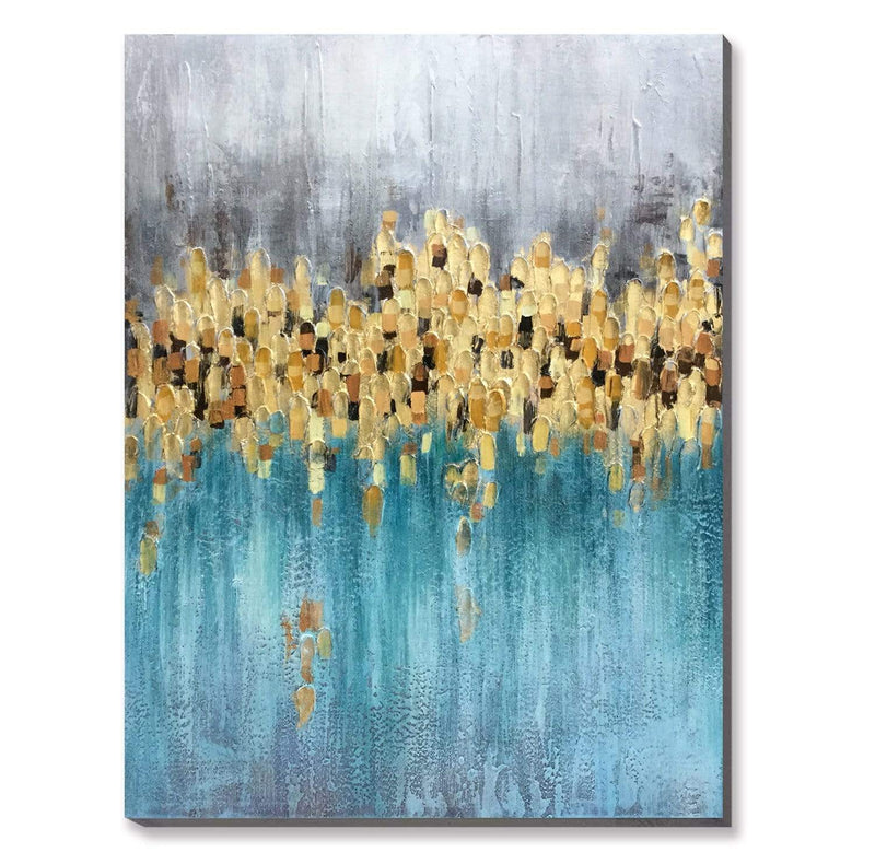Teal Touch Oil Painting