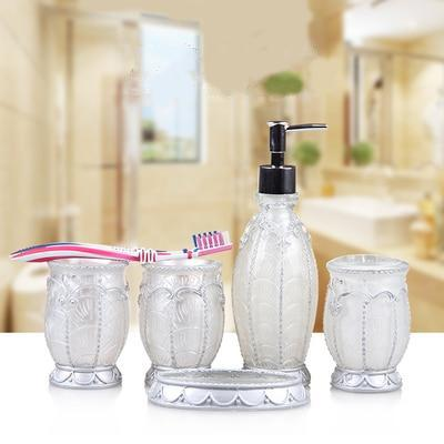 Crystal Clean Bathroom Accessories Set