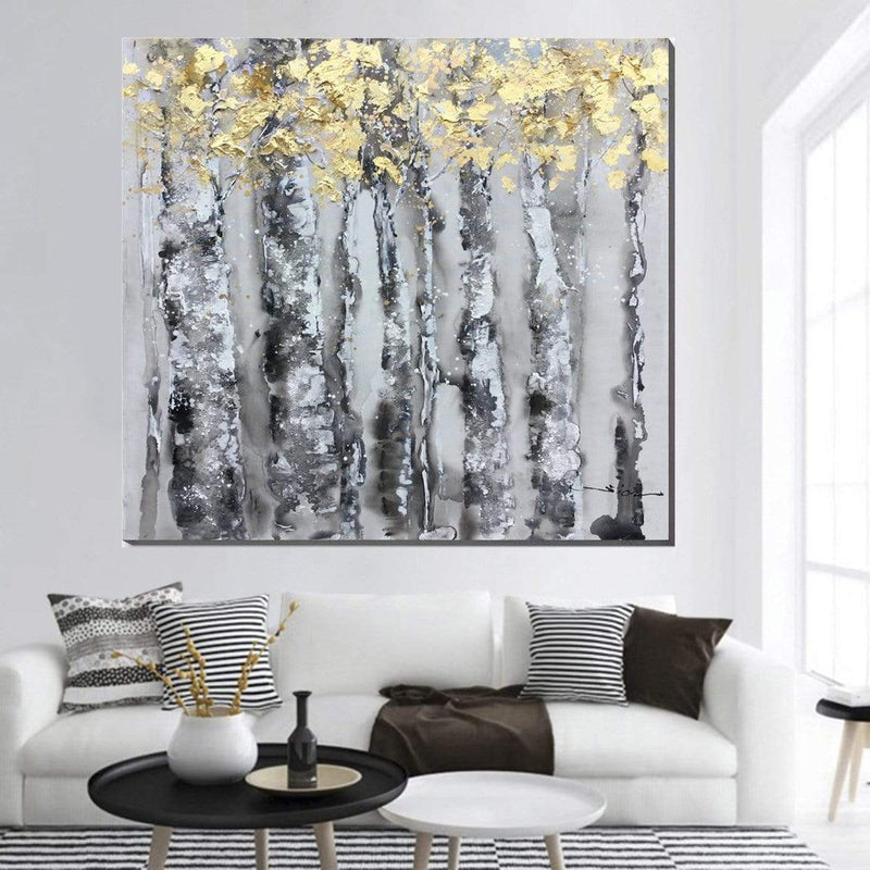 Golden Canopy Oil Painting