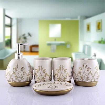 Olive Unsullied Bathroom Accessories Set