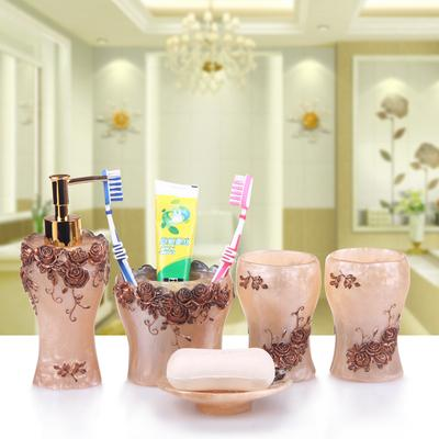 Pure Rose Bathroom Accessories Set