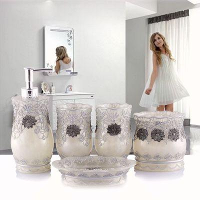 Polished Petals Bathroom Accessories Set