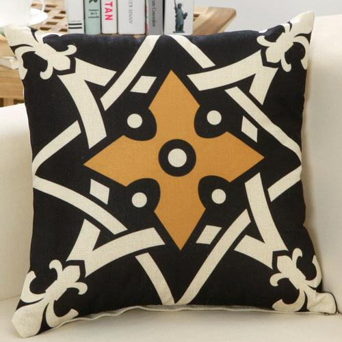 Geometric Bronze Cushion