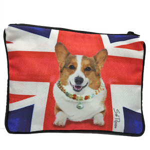 Corgi Fully Lined Zipper Bag
