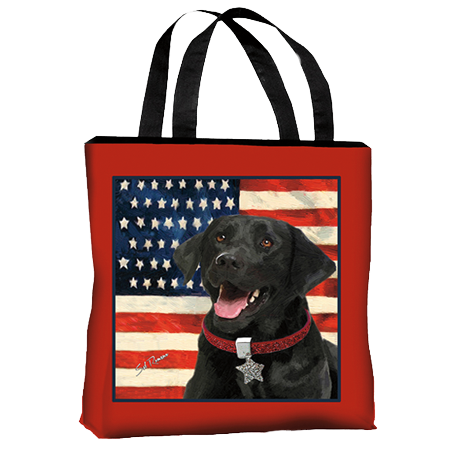 Black Lab Canvas Tote Bag