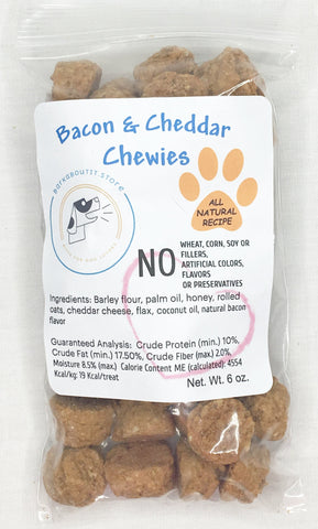 Bacon and Cheddar Chewies Dog Treats