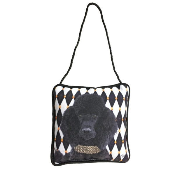Black Poodle Mini Pillow