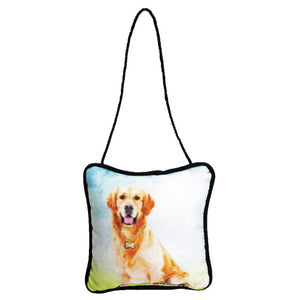 Golden Retriever Mini Pillow