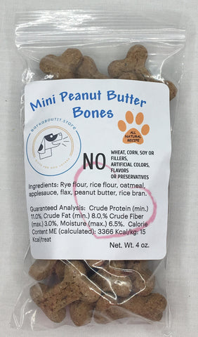 Mini Peanut Butter Bones Hard Dog Treats