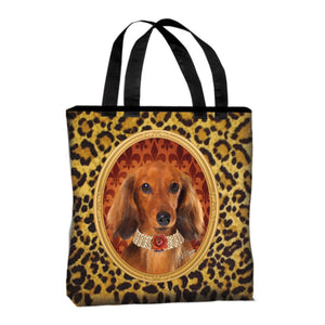 Long Hair Dachshund Canvas Tote Bag