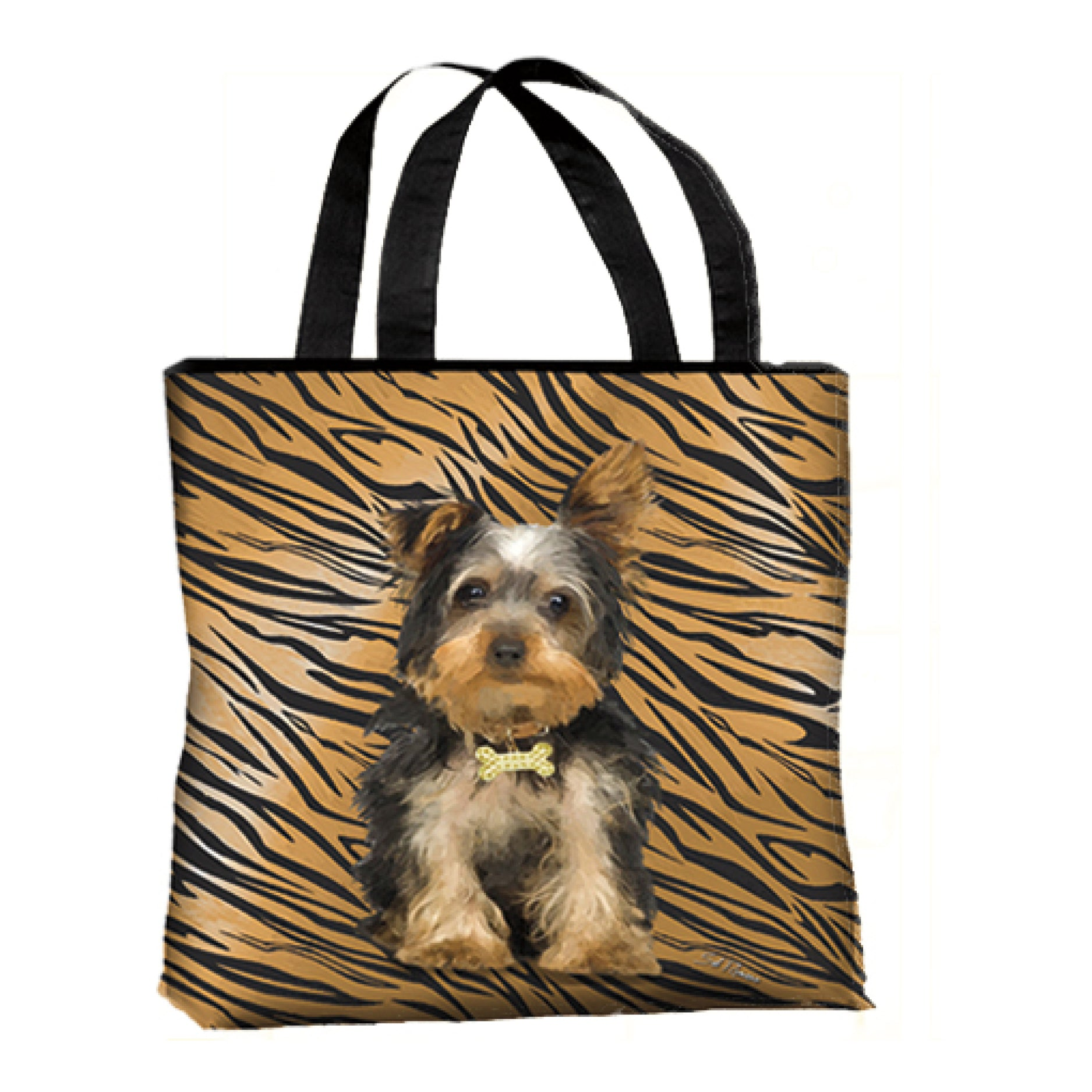 Yorkie Canvas Tote Bag
