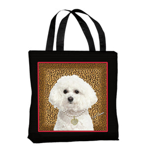 Bichon Frise Canvas Tote Bag