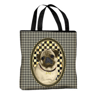 Pug Canvas Tote Bag