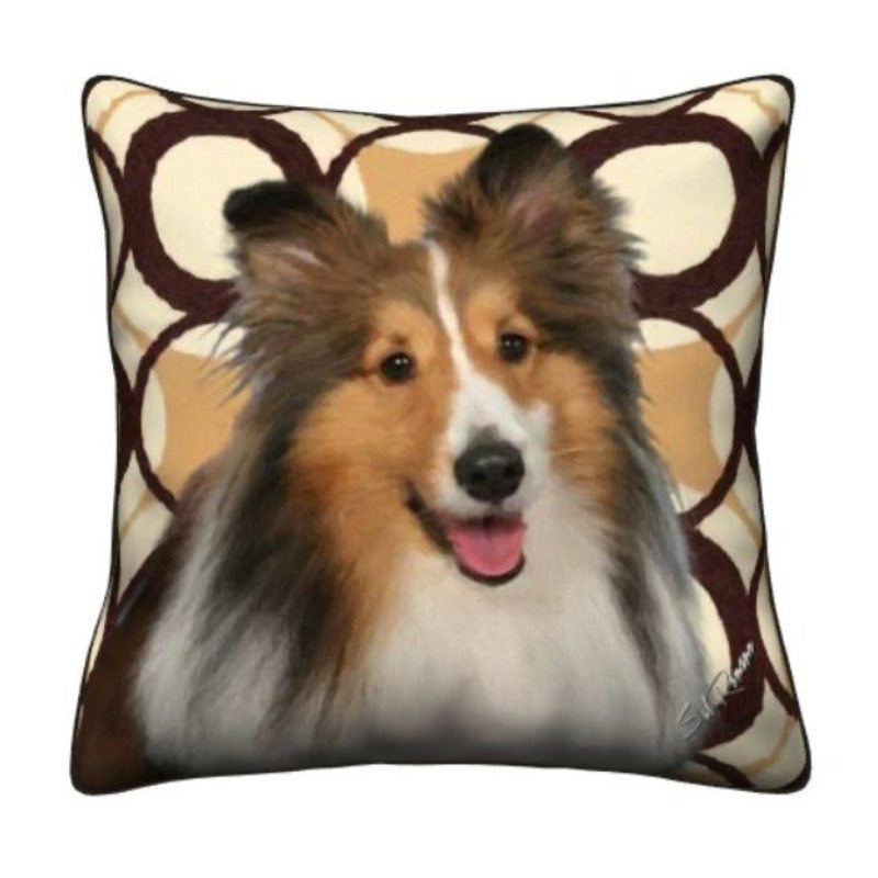 Shetland Sheep Dog Throw Pillow