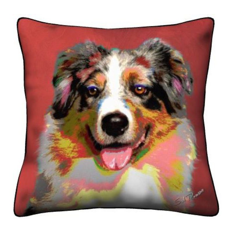 Red Aussie Throw Pillow