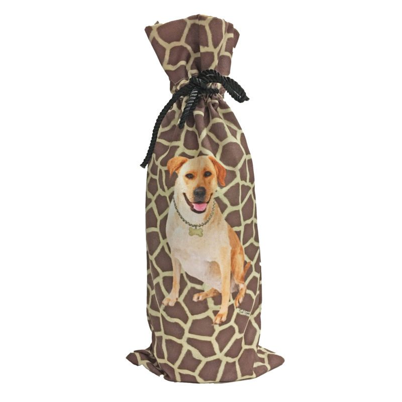 Yellow Lab Canvas Wine Bottle Bag