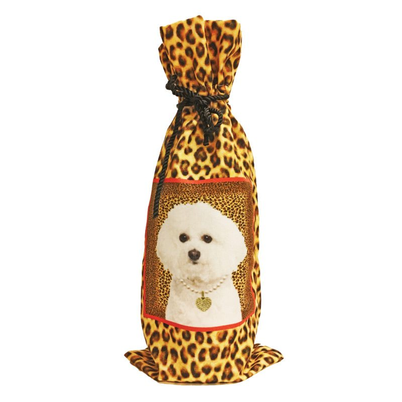 Bichon Frise Canvas Wine Bottle Bag
