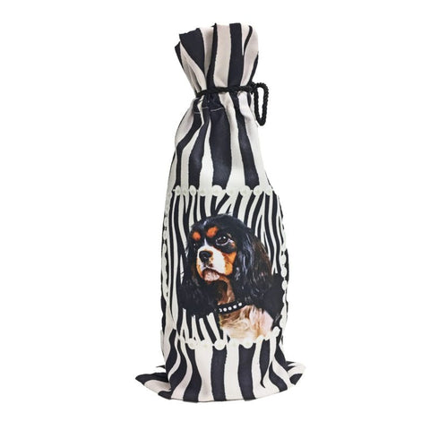 Cavalier King Charles Spaniel Canvas Wine Bottle Bag