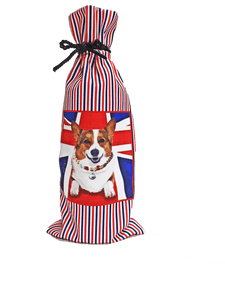 Corgi Canvas Dog Wine Bottle Bag