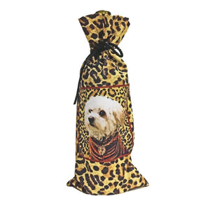 Maltipoo Canvas Wine Bottle Bag