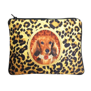 Long Hair Dachshund Fully Lined Zipper Bag