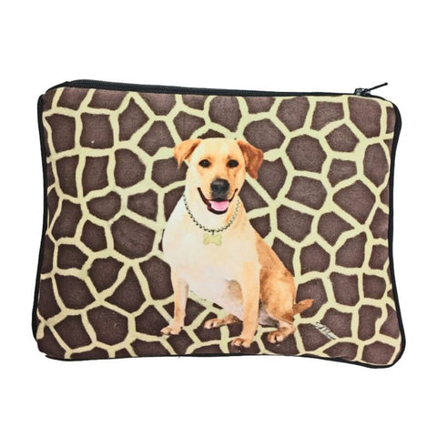 Yellow Lab Fully Lined Zipper Bag