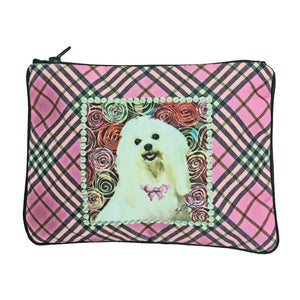 Maltese Fully Lined Zipper Bag