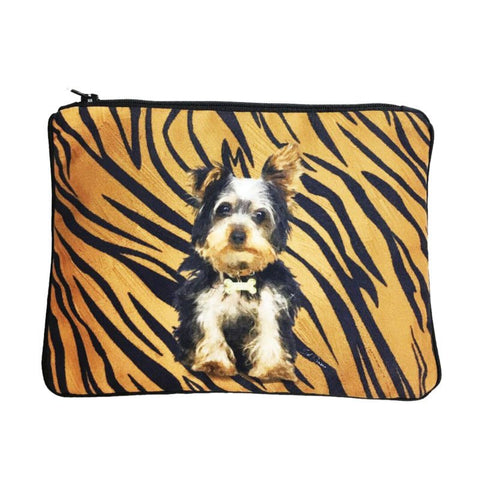 Yorkie Fully Lined Zipper Bag