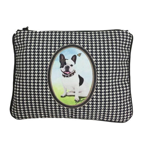 French Bulldog Fully Lined  Zipper Bag