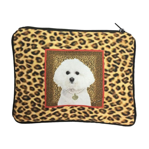 Bichon Frise Fully Lined Zipper Bag