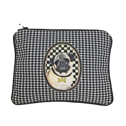 Pug Fully Lined Zipper Bag