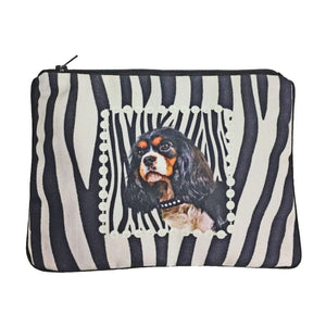 Cavalier King Charles Spaniel Fully Lined Zipper Bag