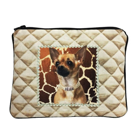 Chihuahua Fully Lined Zipper Bag