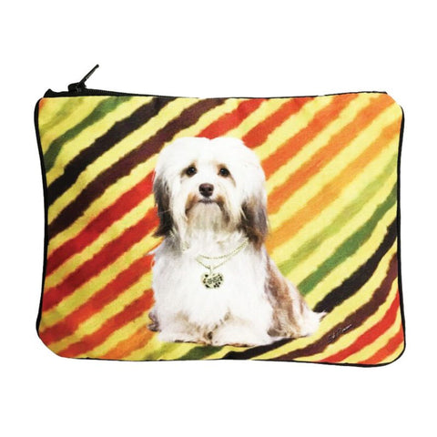 Havanese Fully Lined Zipper Bag