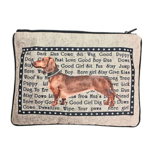 Dachshund Fully Lined Zipper Bag