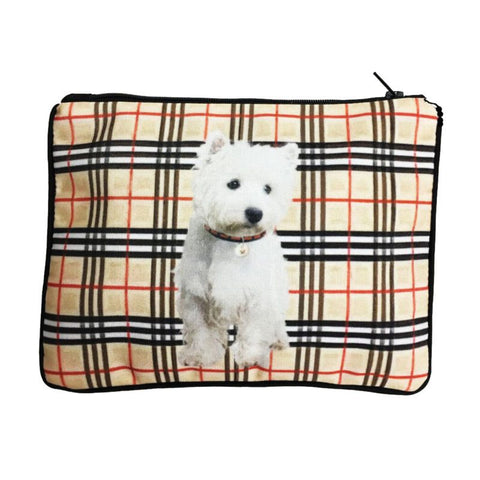 Westie Fully Lined Zipper Bag