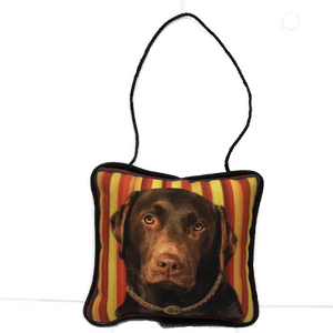 Chocolate Lab Mini Pillow