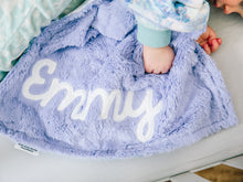Load image into Gallery viewer, Icy Snow Dreams Small Lovey Blanket for Baby Girl