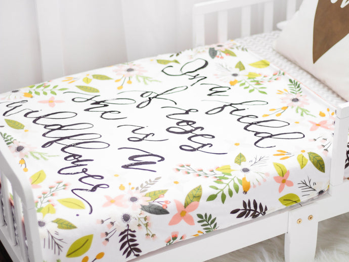 Wildflower Personalized Quote Blanket