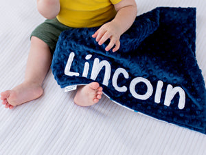 Adventure Awaits Navy Personalized Lovey Blanket