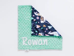 Llama Personalized Small Lovey Blanket
