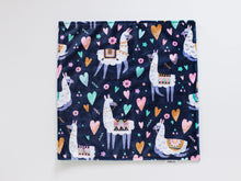 Load image into Gallery viewer, Llama Personalized Small Lovey Blanket