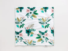 Load image into Gallery viewer, Aqua Floral Lovey Blanket with Name