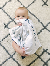 Load image into Gallery viewer, Navy Elephant Personalized Lovey Blanket