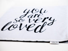 Load image into Gallery viewer, So Very Loved Personalized Lovey Blanket with Custom Color on Back