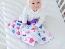 Load image into Gallery viewer, Hearts Personalized Lovey Blanket