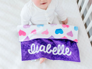 Hearts Personalized Lovey Blanket