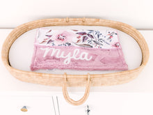 Load image into Gallery viewer, Dusty Rose Floral Lovey Blanket with Name